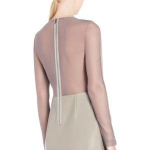 BCBG MaxAzria Jillea Mesh-Back Faux-Leather Dress